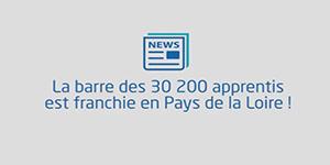 La barre des 30 200 apprentis est franchie en Pays de la Loire !