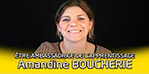 """une vidéo """"Portrait d'ambassadeur de l'apprentissage : Amandine Boucherie"""""""