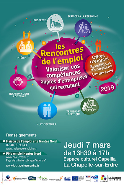 14cde8bb6216 Forum organisé par la Maison de l emploi de Nantes Métropole, la Ville de  la Chapelle-sur-Erdre, Pôle emploi, l Unité emploi, et l association des ...